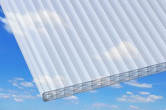 Stegplatten Polycarbonat 25 mm mit Hitzeschutz