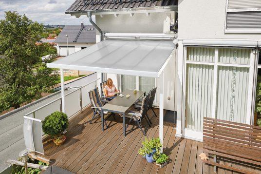 Terrassendach 3,06 x 4,06 m weiß
