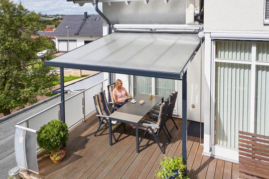 Terrassendach 3,06 x 3,06 m anthrazit