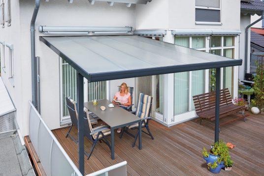 Terrassendach 3,06 x 4,06 m anthrazit