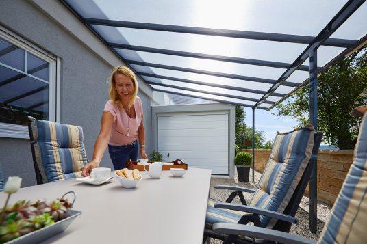 Terrassendach 5,46 x 3,06 m anthrazit