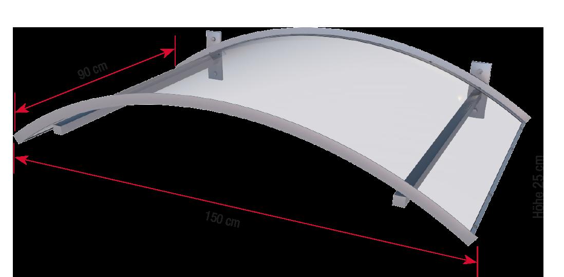 Bogenvordach LED bemaßt