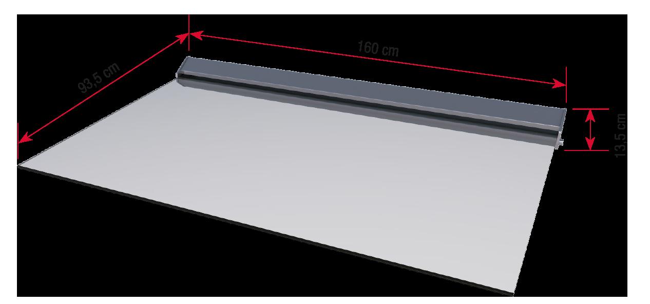 Echtglasvordach LED bemaßt