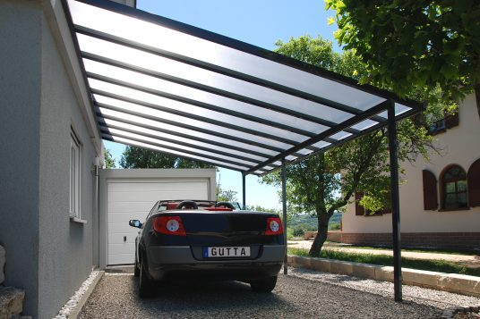 Carport Anbau 5,46 x 3,06 m anthrazit