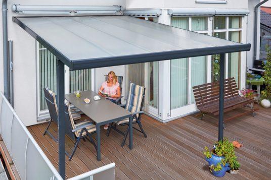 Terrassenüberdachung 3,06 x 4,06 m anthrazit