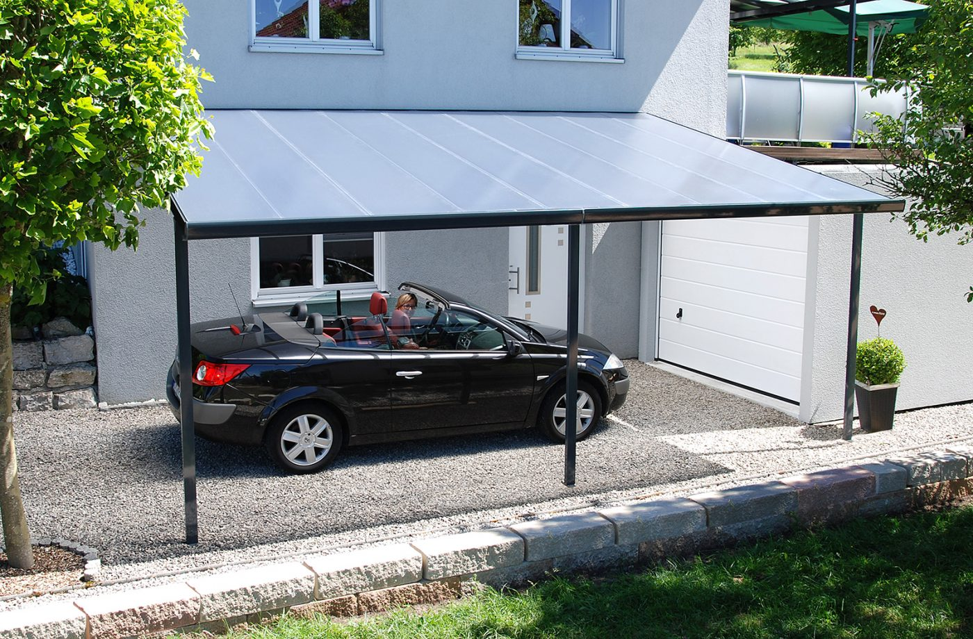 Carport Bausatz anthrazit