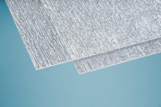 Acrylglas 6 mm Baumrinde grob klar