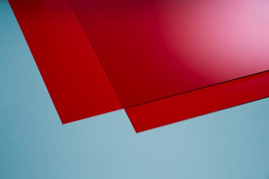 Acrylglas farbig rot
