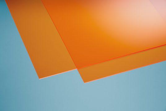 Acrylglas farbig orange