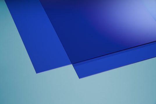 Acrylglas farbig blau