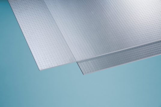 Polystyrolglas Carree 2,5 mm klar
