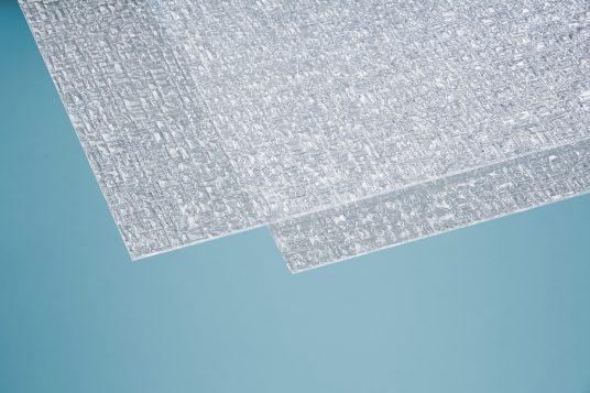 Polystyrolglas Pyramide 5 mm klar