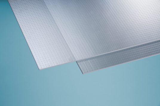 Polystyrolglas Carree 5 mm klar