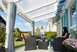 Terrassendach mit Acryl Stegplatten