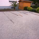 Parkplatz mit Rasengittern