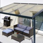 Terrassendach Premium Acryl bronce