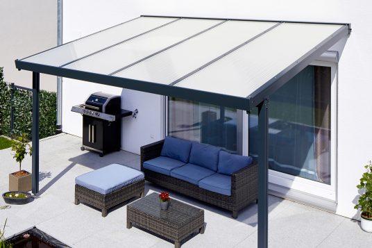 Terrassendach Premium Acryl Klima blue