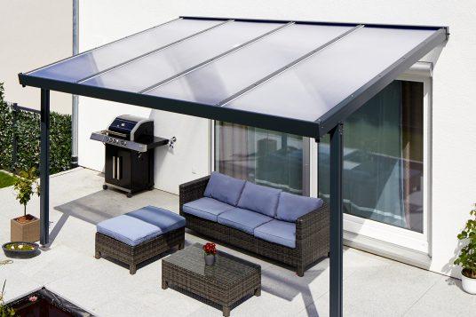 Terrassendach Premium Polycarbonat klar