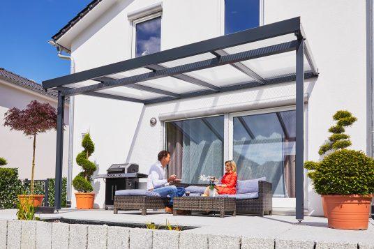 Terrassendach Premium 4x3 m anthrazit