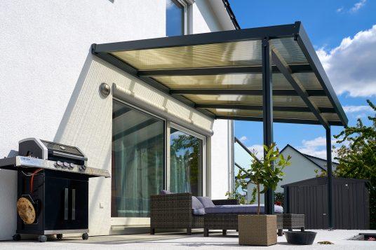 Terrassendach Premium 4x3 m Acryl bronce