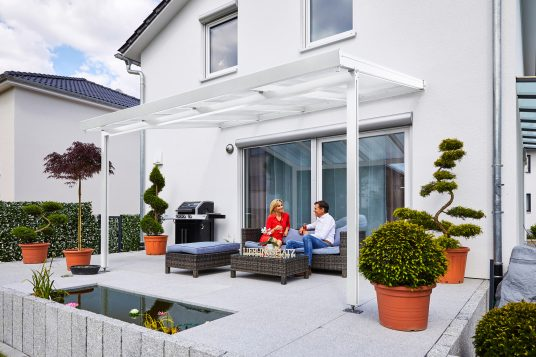 Terrassendach Premium 4x3 m weiß