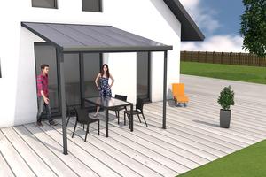 Terrassendach anthrazit 3x3m
