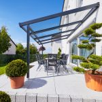 Terrassendach Premium 4x3 m anthrazit Echtglas
