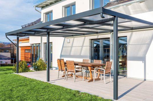Terrassendach Premium 6x4 m anthrazit