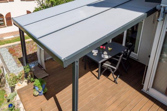 Terrassendach 3x3 m anthrazit