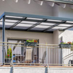Terrassendach 4x4 m anthrazit Balkonüberdachung