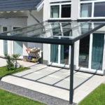 Terrassendach Premium 4x4 m anthrazit Echtglas