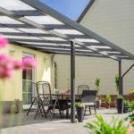 Terrassendach Premium 8x4 m anthrazit